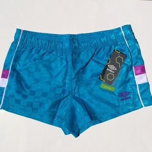 NWT UMBRO Neon Sky Shorts